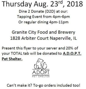 Dine to Donate Tapping Event