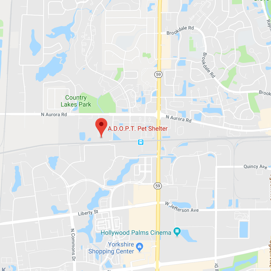 Map to Adopt Pet Center