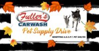 Fuller's Car Wash Pet Supply Drive