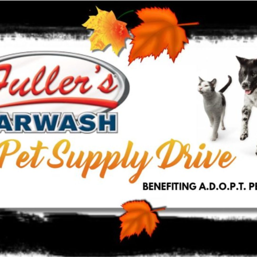 Fuller's Car Wash Pet Supply Drive